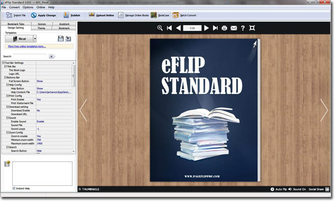 eFlip Page Maker for HTML 5 full screenshot