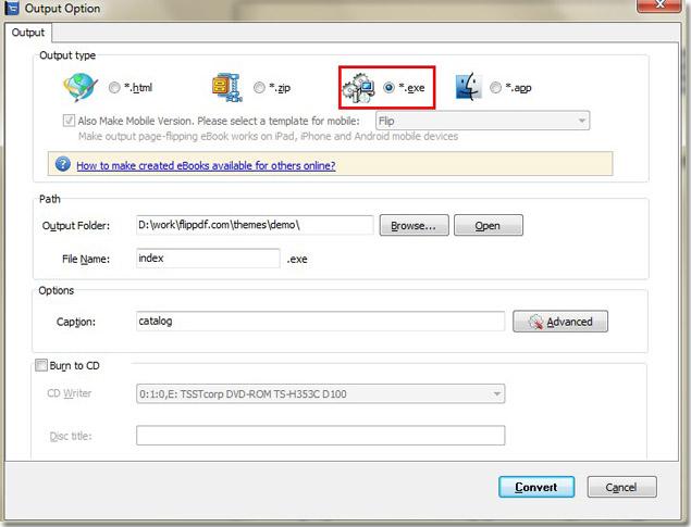 Make Flip Book In EXE Format B...
