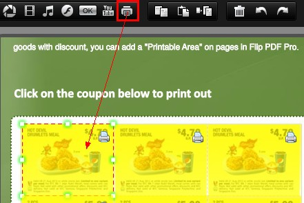 How to add print area on flip pages by Indesign to Flipbook