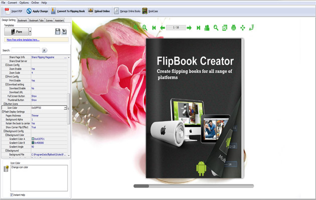how to create a flip book in pdf format