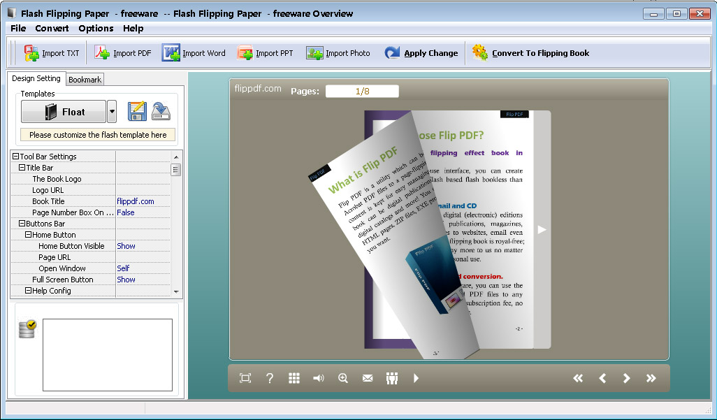 Flash Flipping Paper - freeware 2.8 full