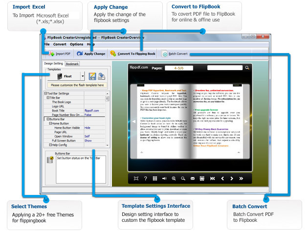 Convert PDF and Microsoft Excel to flipbook