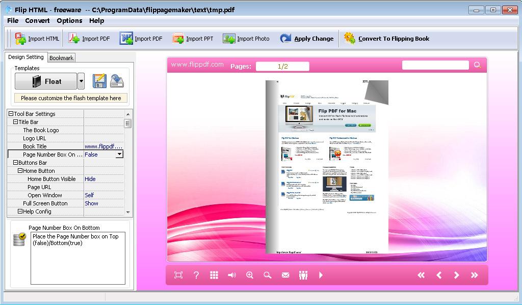Flip Html Freeware To Convert Html To Flash Flipbook Convert Any