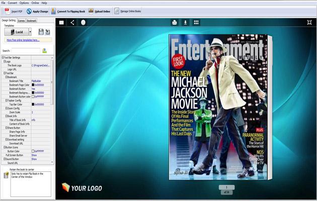 Flip book maker to publish digital page flip magazine