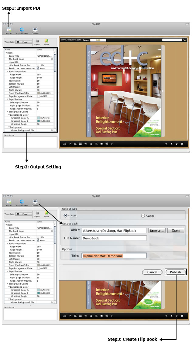 Flip PDF for Mac OS X full screenshot