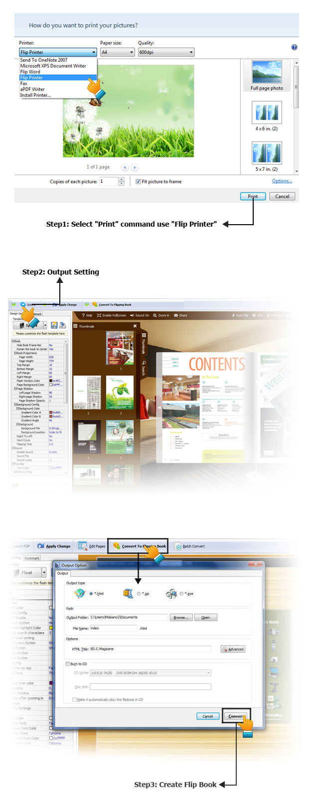 Click to view Flip Printer Standard 2.4 screenshot