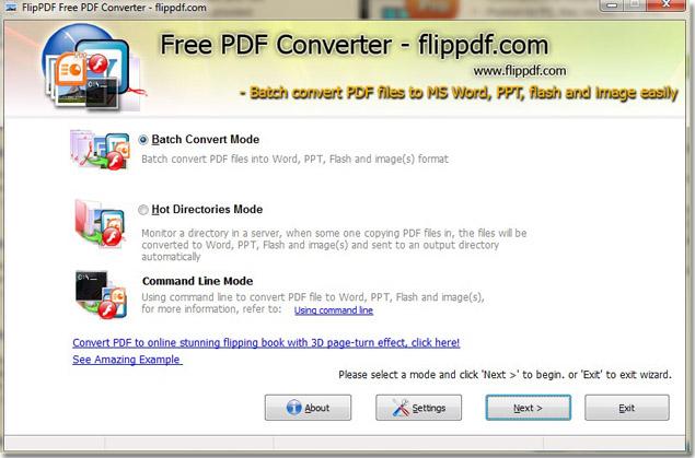 Windows 7 FlipPDF Free PDF Converter 1.0 full