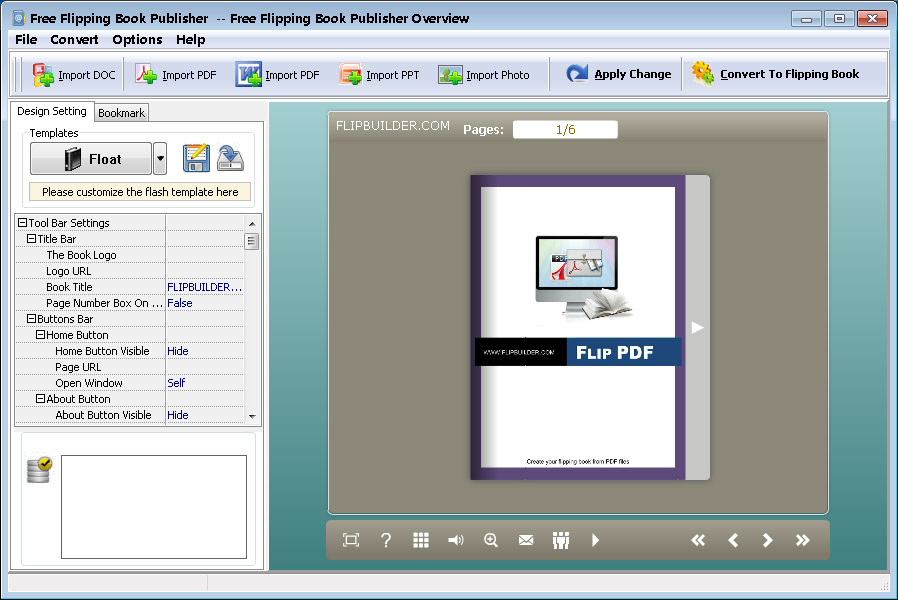 free flipping book publisher freeware to create page flip books