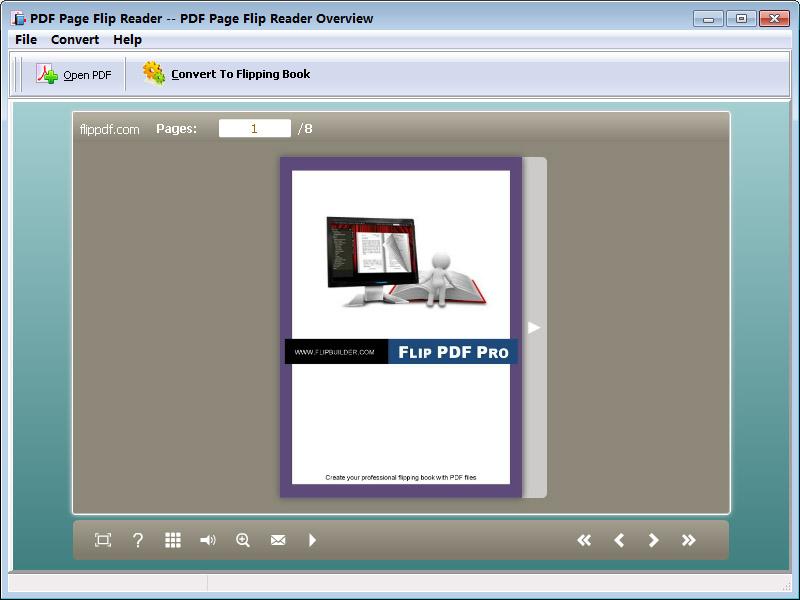 Click to view PDF Page Flip Reader - freeware 2.2 screenshot