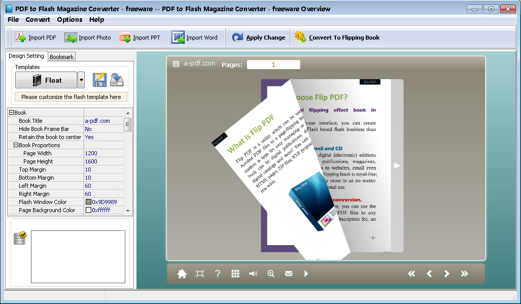 Pdf to flash magazine converter 2.51