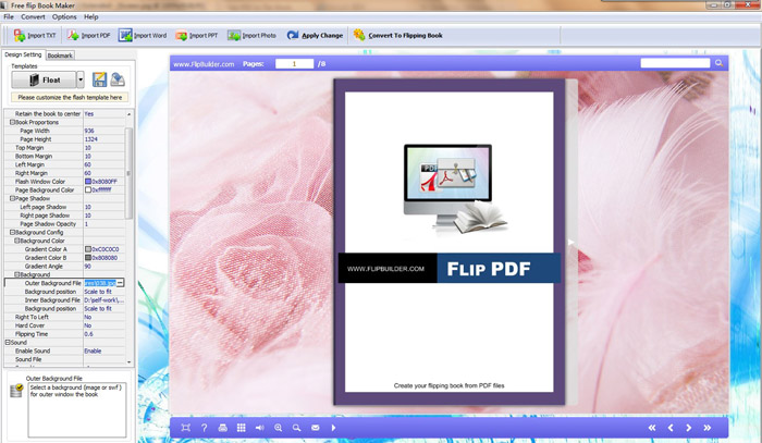 Free Flip Page Software full screenshot