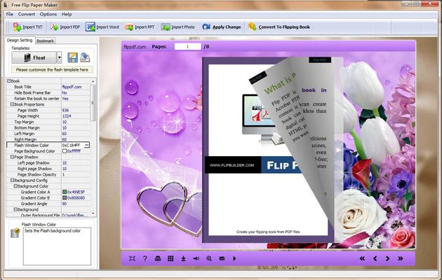 Free Flip Paper Maker 1.0 full