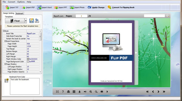 Free Flipping Book Maker full screenshot