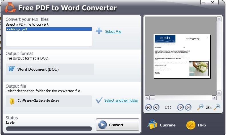 Freeware PDF to Word