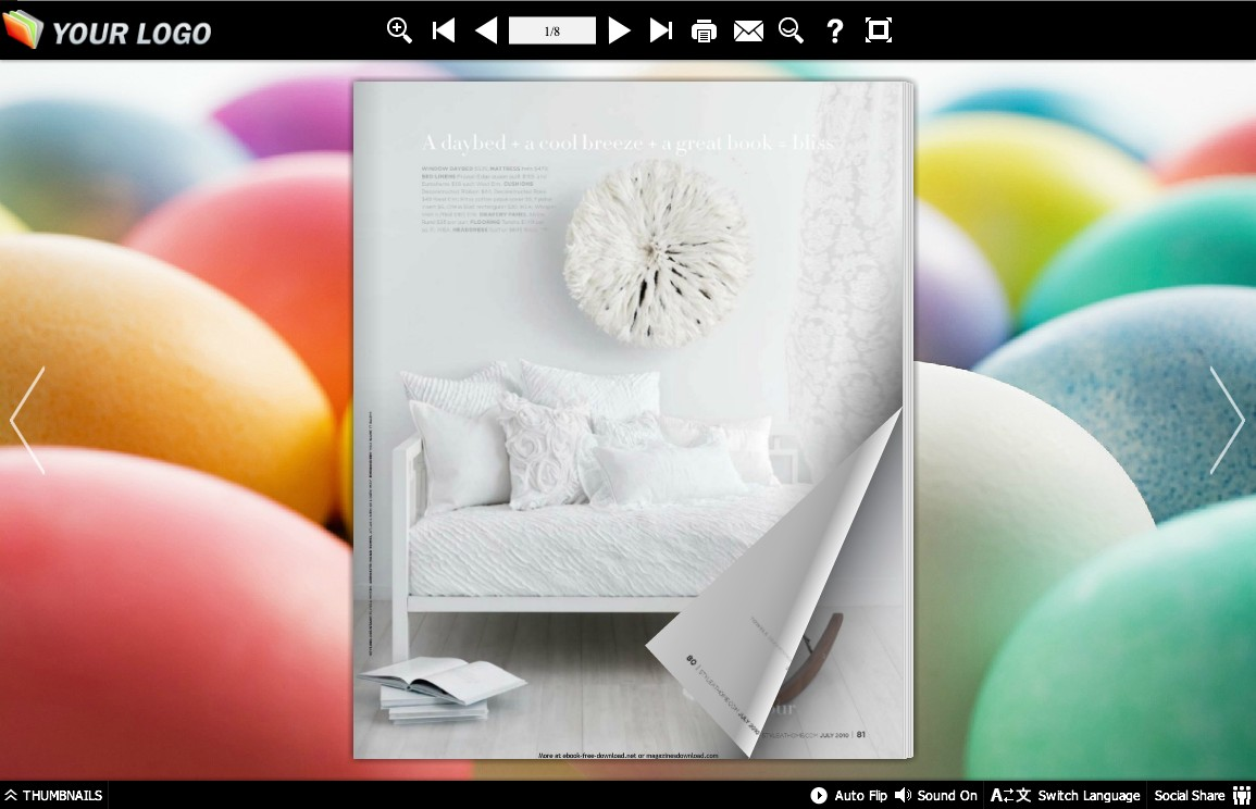 Page Flip Book Hazy Style 1.0 full