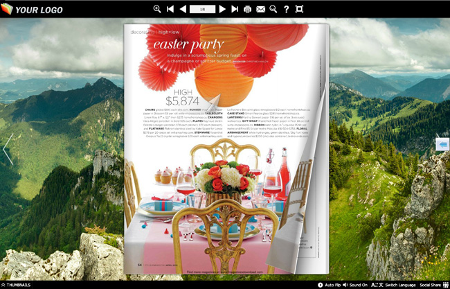 Page Flip Book Mountain Style 1.0 full