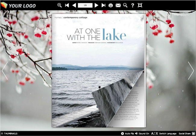 Page Flip Book Snow Capped Style 1.0 full