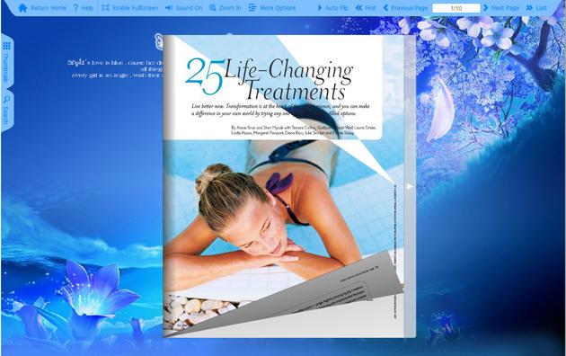 Windows 7 Flash Flip Book Theme of Blue 1.0 full
