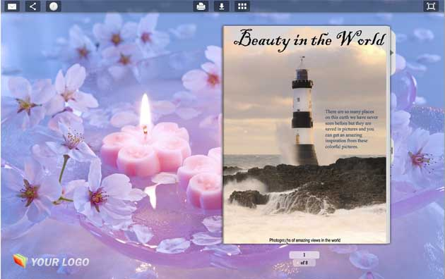 Page Flip Book Template - Candle Style 1.0 full