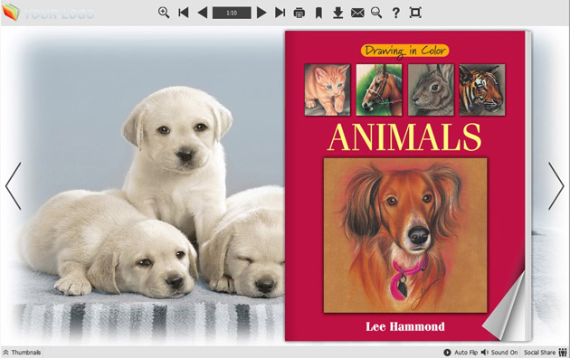 Windows 7 Page Flip Book Template - Cute Dog Style 1.0 full