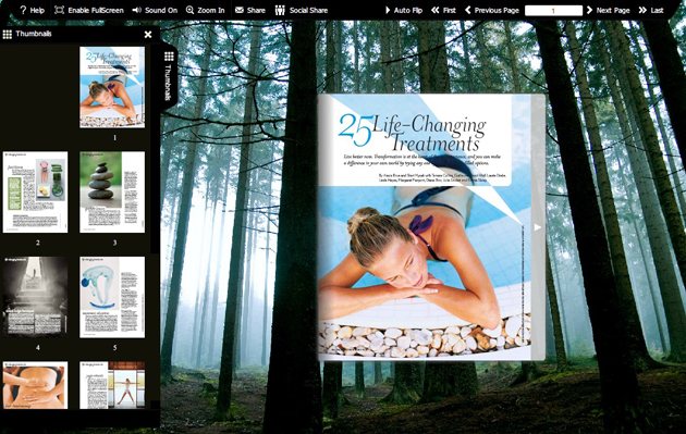 Windows 7 Flash flip book template of Forest 1.0 full
