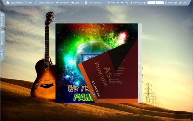 Windows 7 Flash Flip Book Theme of Guitar 1.0 full