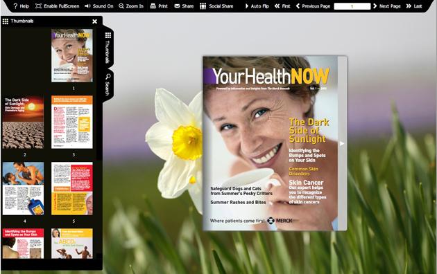 Windows 7 Flash flip book theme of SpringBlossom 2 1.0 full