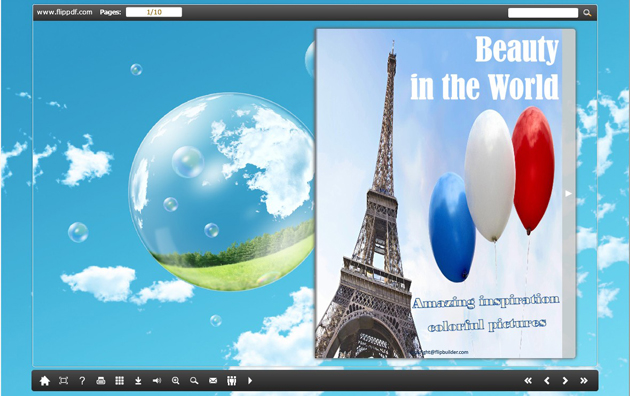 Windows 7 Page Flip Book Template - Sunny Day 1.0 full